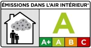 'émission du produit en polluants volatils dans l'air intérieur d'une pièce